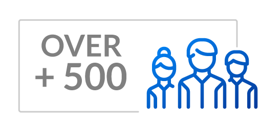 Over 500 Clients